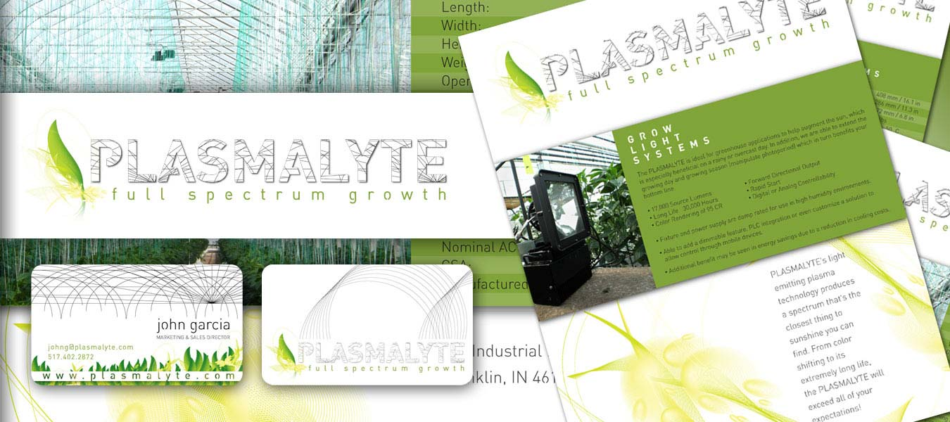 Ann arbor michigan graphic web design portfolio genui forma client plasmalyte technologies project brand identity elements logo design business cards website design product sheets reheart Gallery